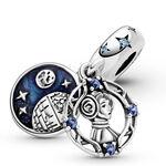 Pandora Star Wars Princess Leia Enamel, Crystal & CZ Double Dangle Charm