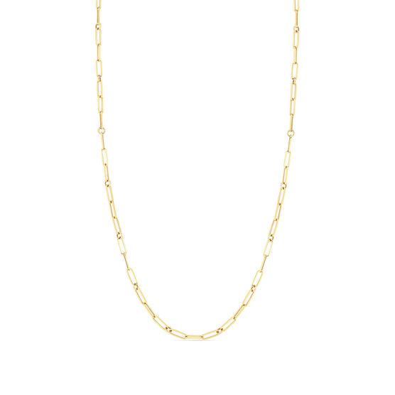 Roberto Coin Designer Gold Fine Paperclip Chain Necklace 18K