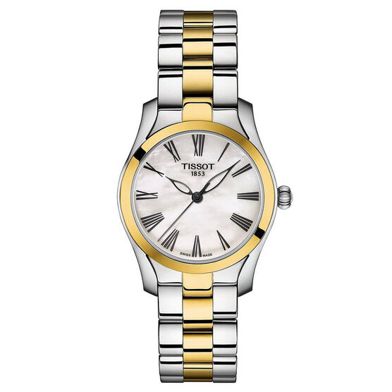Tissot T-Wave T-Lady Two-Tone Watch, 30mm