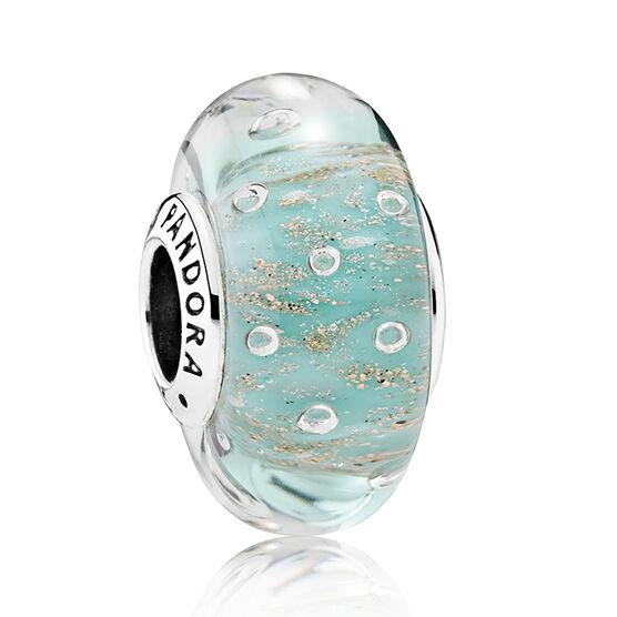 PANDORA Mint Glitter Murano Charm