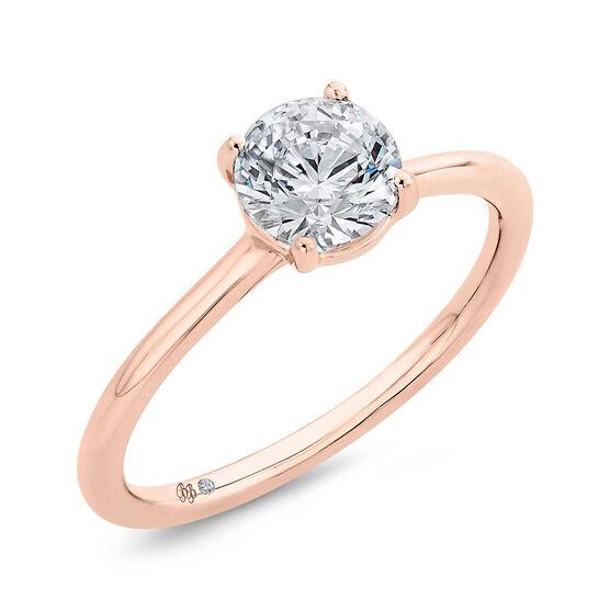 "Bella Ponte ""The Whisper"" Rose Gold Engagement Ring Setting 14K"