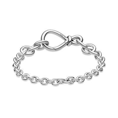 Pandora Chunky Infinity Knot Chain Bracelet