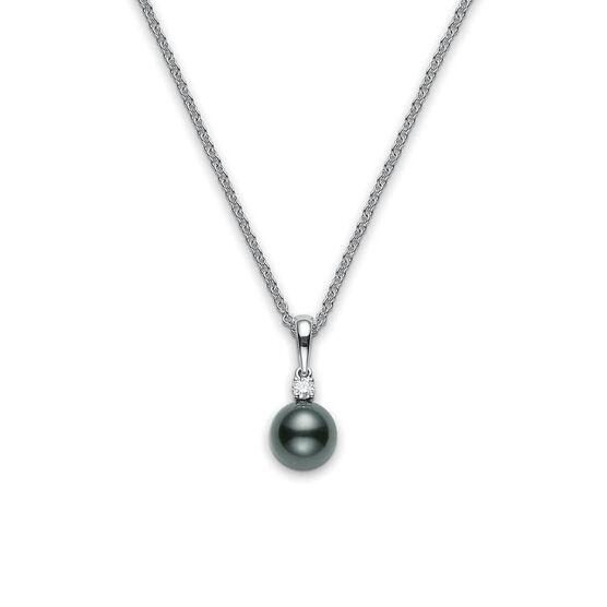 Mikimoto Black South Sea Cultured Pearl & Diamond Pendant 18K