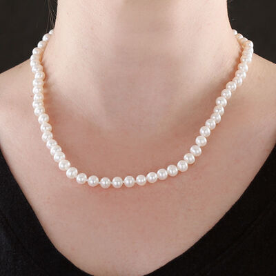 Freshwater Cultured Pearl Strand 14K, 18""