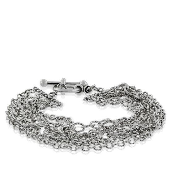 Lisa Bridge Six-Row Chain Bracelet