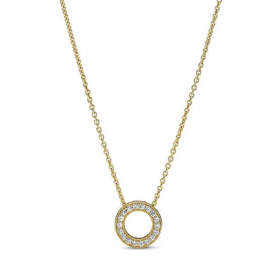 Pandora Logo Pavé CZ Circle Collier Necklace