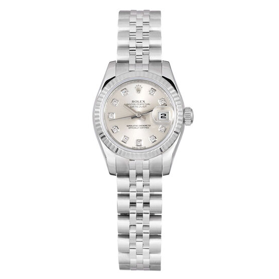 Pre-Owned Rolex Oyster Perpetual Lady-Datejust Diamond Dial Watch, 26mm, 18K & Steel