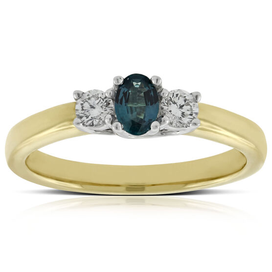 Alexandrite & Diamond Ring 18K