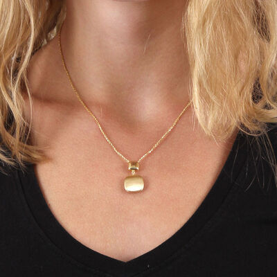 Toscano Square Drop Necklace 14K