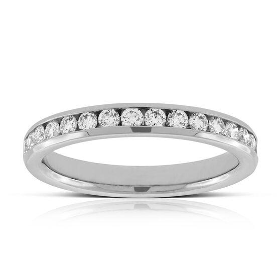 Channel Set Diamond Ring in Platinum,  1/2 ctw.