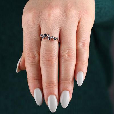 Bezel Set Sapphire Ring 14K