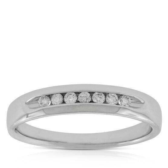 Men's Diamond Wedding Band 14K, 1/5 ctw.