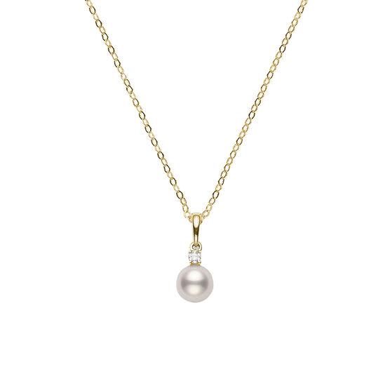 Mikimoto A+ Akoya Cultured Pearl & Diamond Necklace 18K, 7mm