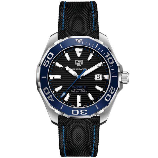TAG Heuer Aquaracer Calibre 5 Automatic Mens Black Textile Watch