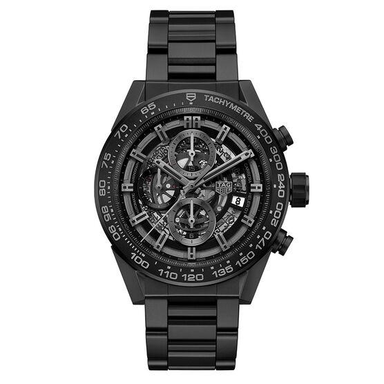 TAG Heuer Carrera Calibre Heuer 01 Black Automatic Chrono Watch 45mm