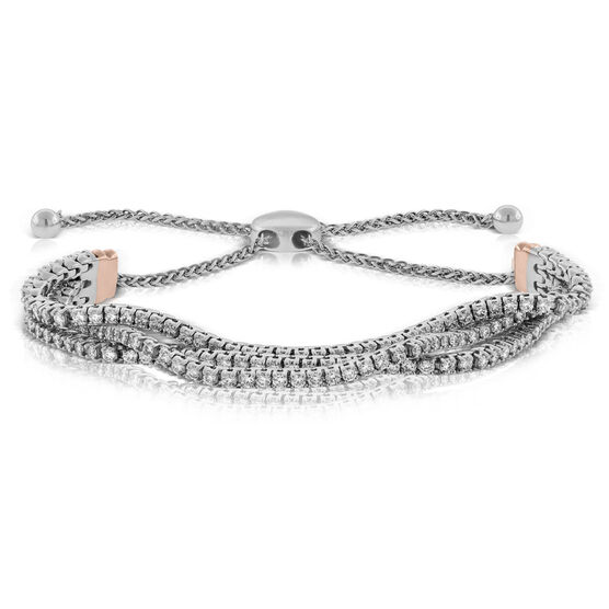 Bolo Diamond Bracelet 14K, 3 ctw.