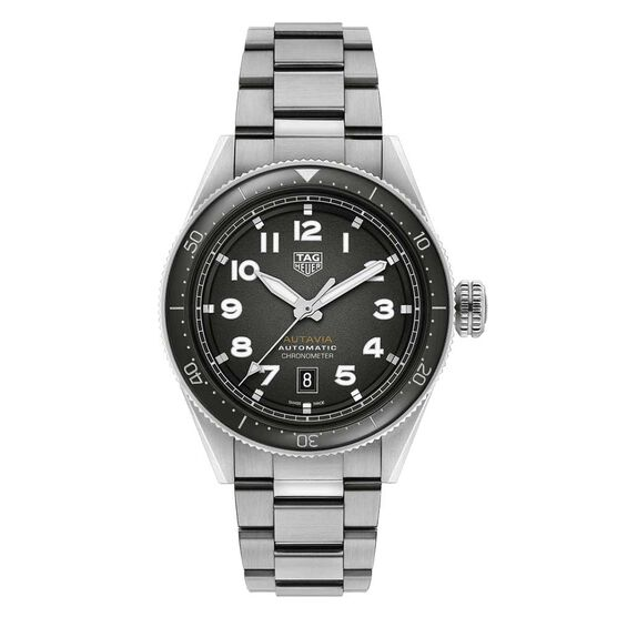 TAG Heuer Autavia Calibre 5 COSC Mens Black Steel/NATO Watch