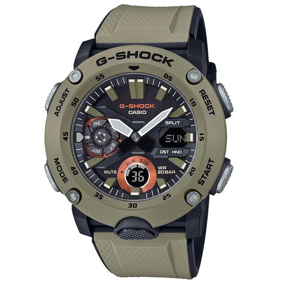 G-Shock Analog / Digital GA-2000 Carbon Core Guard Watch