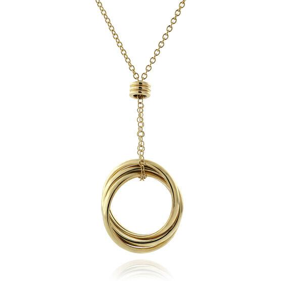 Toscano Interlocking Rings Necklace 18K