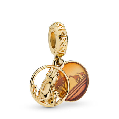 Pandora Shine™ & Disney, Simba & Mufasa Sunset Dangle Enamel Charm