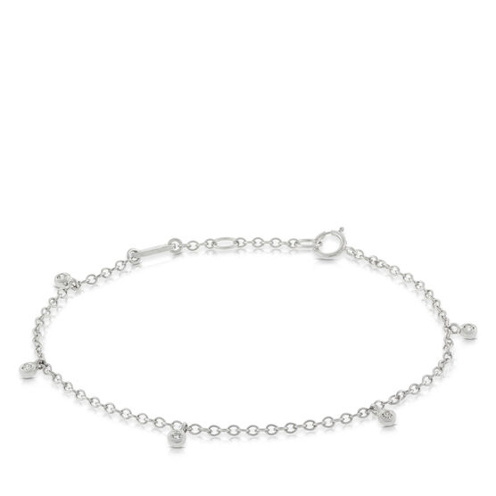 Diamond Dangle Bracelet 14K