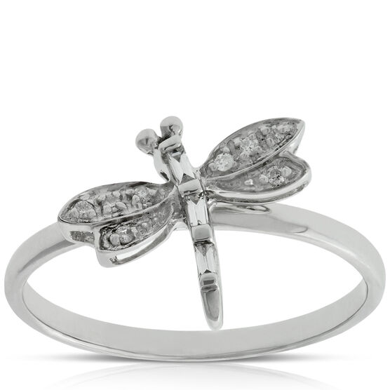 Diamond Dragonfly Ring 14K