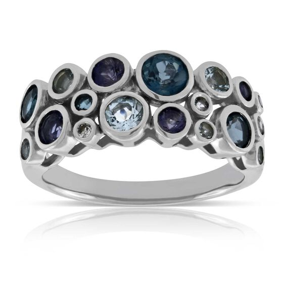 Bezel Bubble Gemstone Ring 14K