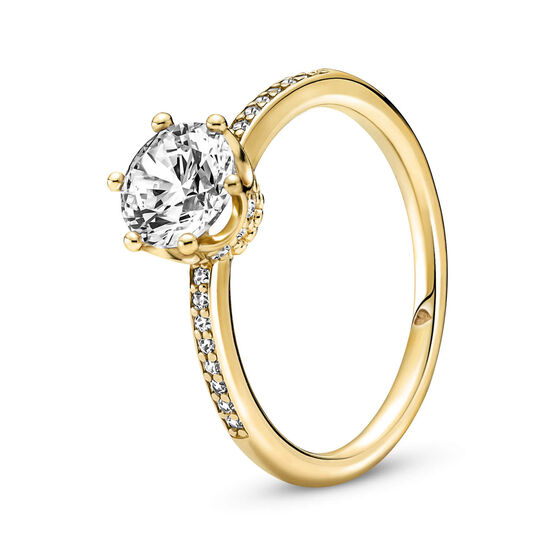 Pandora Clear Sparkling Crown Solitaire CZ Ring