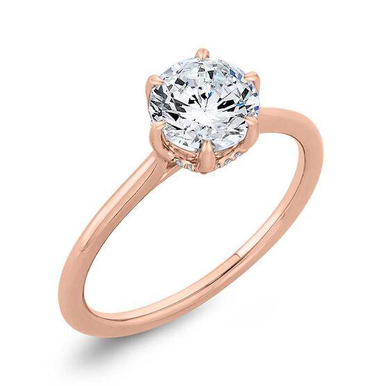 "Bella Ponte ""The Whisper Crown"" Rose Gold Diamond Engagement Ring Setting 14K"