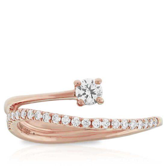 Rose Gold Ikuma Canadian Diamond Ring 14K