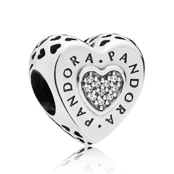 Pandora Signature Heart CZ Charm
