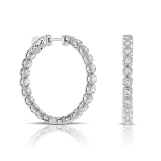Diamond Hoop Earrings 14K, 2.1 ctw.