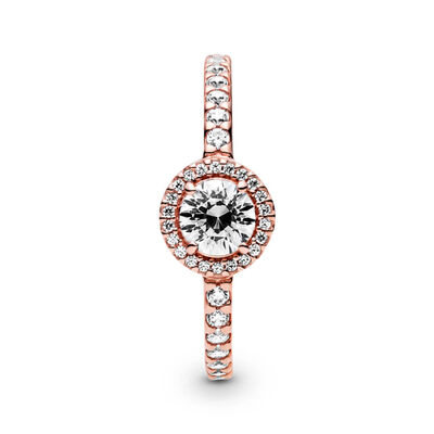 Pandora Rose™ Classic Sparkle Halo CZ Ring