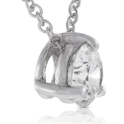 Signature Forevermark Diamond Pendant 18K White Gold 1/2 Carat