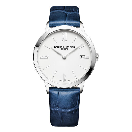 Baume & Mercier CLASSIMA Blue Strap Watch  36.5mm