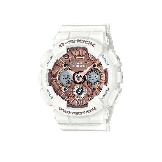 G-Shock S-Series Pink & White Analog Digital Watch