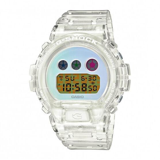 G-Shock 25th Anniversary Transparent White Watch, 53.2mm