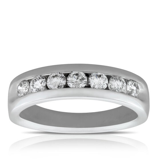Men's Channel Set Diamond Wedding Band 14K