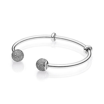 PANDORA CZ Open Bangle Bracelet