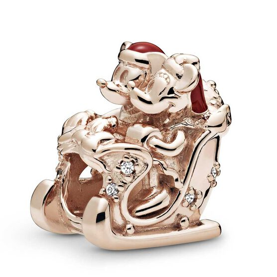 Pandora Rose™ Disney Minnie & Mickey Christmas Sleigh Enamel & CZ Charm