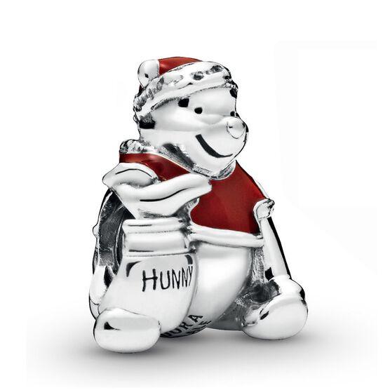 Pandora Disney Winnie the Pooh Hunny Pot Christmas Enamel Charm