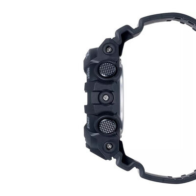 G-Shock Black Strap Gray Detailed Watch, 57.5mm