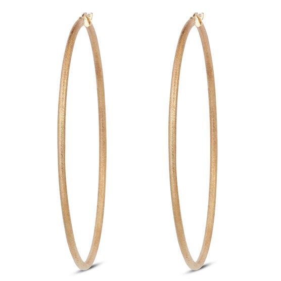 Satin Hoop Earrings 14K