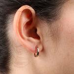 Rose Gold Huggie Hoop Earrings 14K