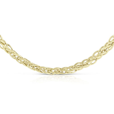Square Wheat Chain 14K, 18""