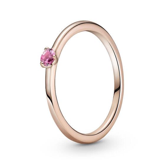 Pandora Rose™ Pink Solitaire CZ Ring