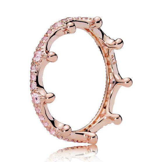 Pandora Pink Sparkling CZ Crown Ring