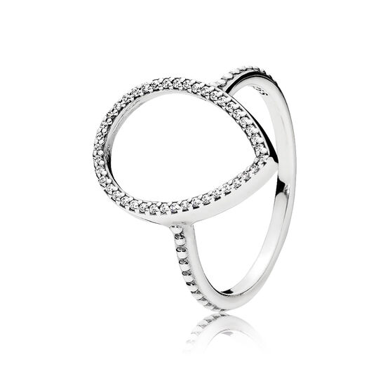 Pandora Teardrop Silhouette CZ Ring