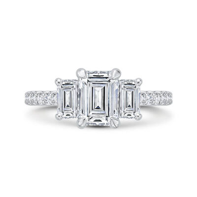 Bella Ponte 3-Stone Diamond Engagement Ring Setting 14K