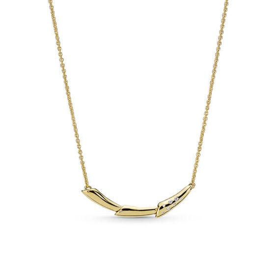 Pandora Shine™ Flower Stem Reversible & Adjustable Length CZ Necklace